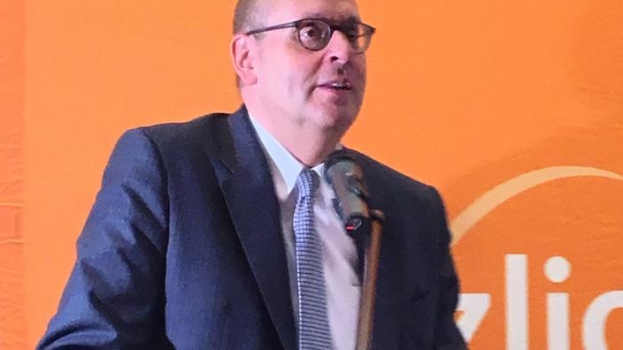 Dr. Michael J. Inacker beim Neujahrsempfang von MIT und CDU